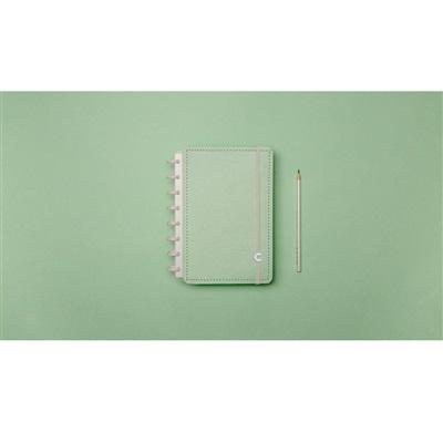 Caderno Inteligente Verde Pastel 80FL Pequeno 1 UN