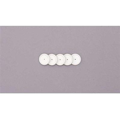 Discos + Elástico para Caderno Inteligente 23mm Branco Kit 1 UN