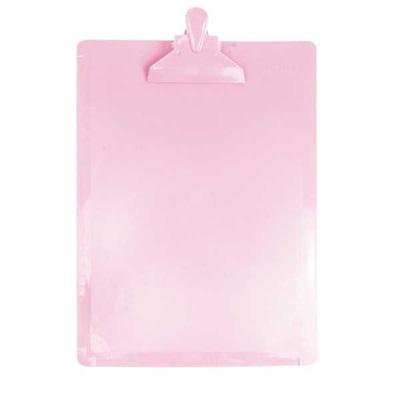 Prancheta DelloColor Ofício Rosa Pastel com Régua 1 UN Dello