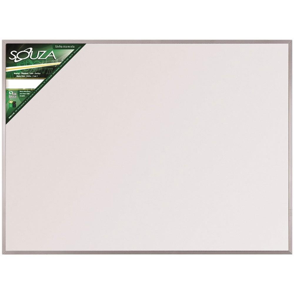 Quadro Branco Magnético Alumínio 120x90cm 1 UN Souza
