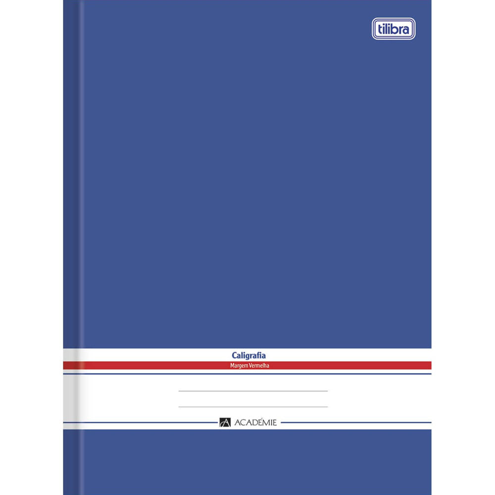 Caderno de Caligrafia Brochura Capa Dura Académie Azul 96 FL 1 Tilibra