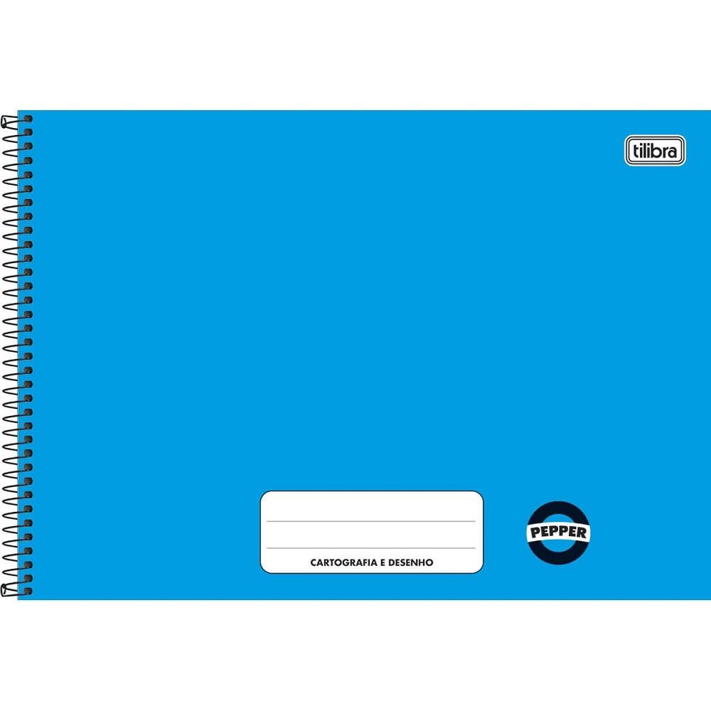 Caderno Cartografia e Desenho Pepper Azul 1 UN Tilibra
