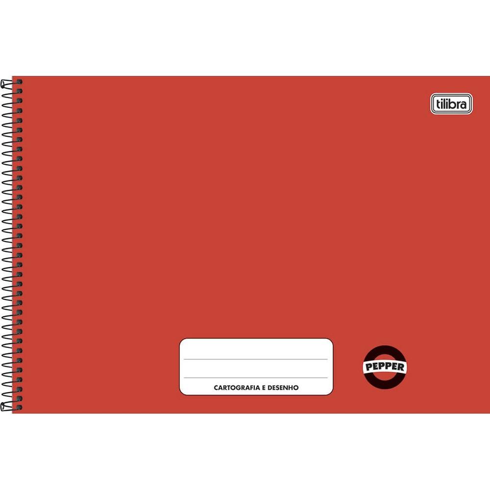 Caderno Cartografia e Desenho Pepper Vermelho 1 UN Tilibra