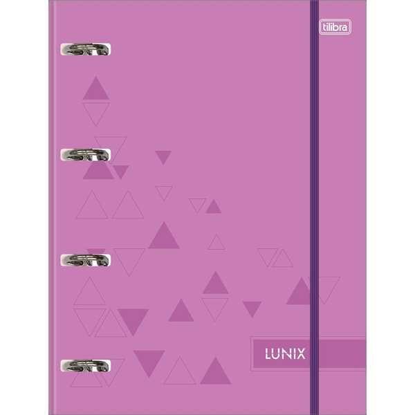 Caderno Argolado Universitário Cartonado com Elástico 80 FL Lunix Roxo 1 UN Tilibra