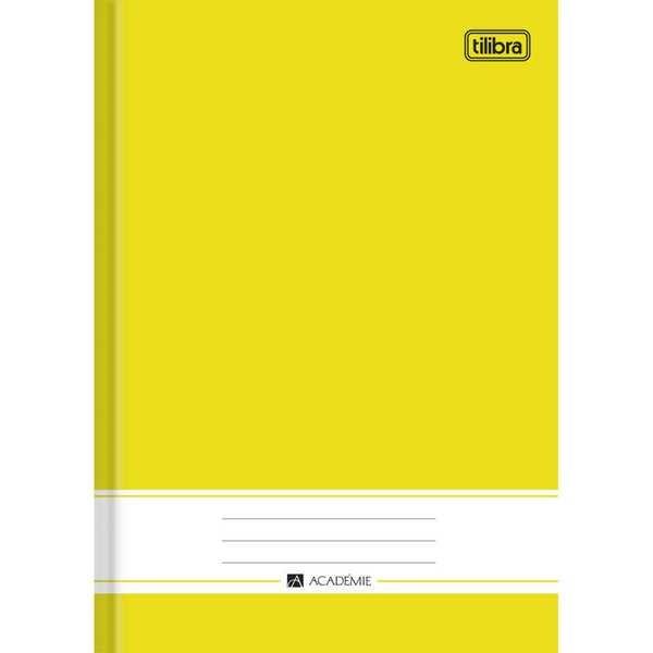Caderno Brochura Capa Dura 1/4 Académie Amarelo 96 FL 1 UNTilibra