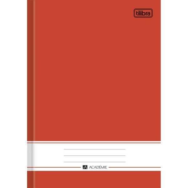 Caderno Brochura Capa Dura 1/4 Académie Vermelho 96 FL 1 UN Tilibra