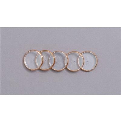 Discos + Elástico para Caderno Inteligente 23mm Rose Gold Kit 1 UN