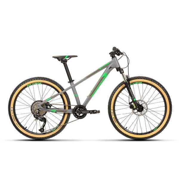 Bicicleta Grom Impact 2020 Aro 24 Cinza e Verde Sense