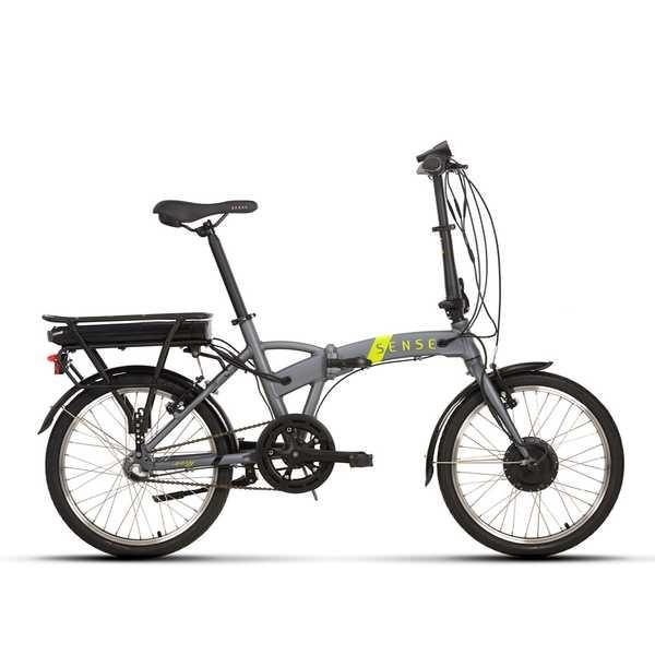 Bicicleta Elétrica Easy E-Urban 2020 Aro 20 Cinza Quadro Tamanho Único Sense