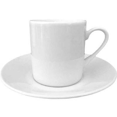 Xícaras de Café com Pires Reta 70ml com 12 Peças Sam Master