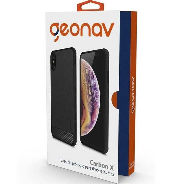 Capa Carbon X iPhone XS Max Preto 1 UN Geonav