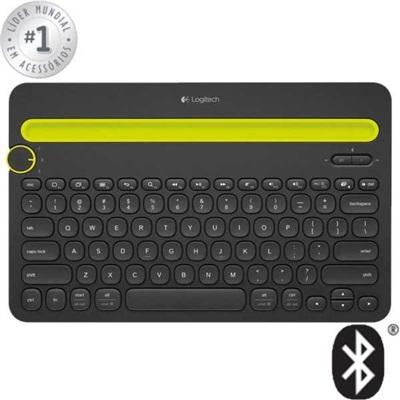 Teclado Bluetooth Multi Device Padrão Us Preto K480 1 UN Logitech