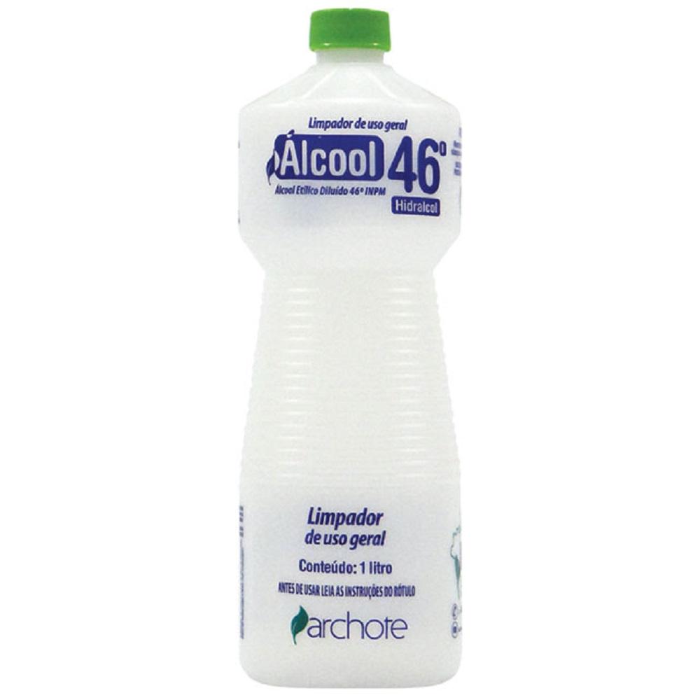 Álcool Liquido 46% 1L 1 UN Archote