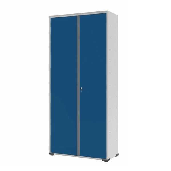 Armário Organizador com Fechadura Azul e Cinza 75x170x32cm 1 UN Elite Aço