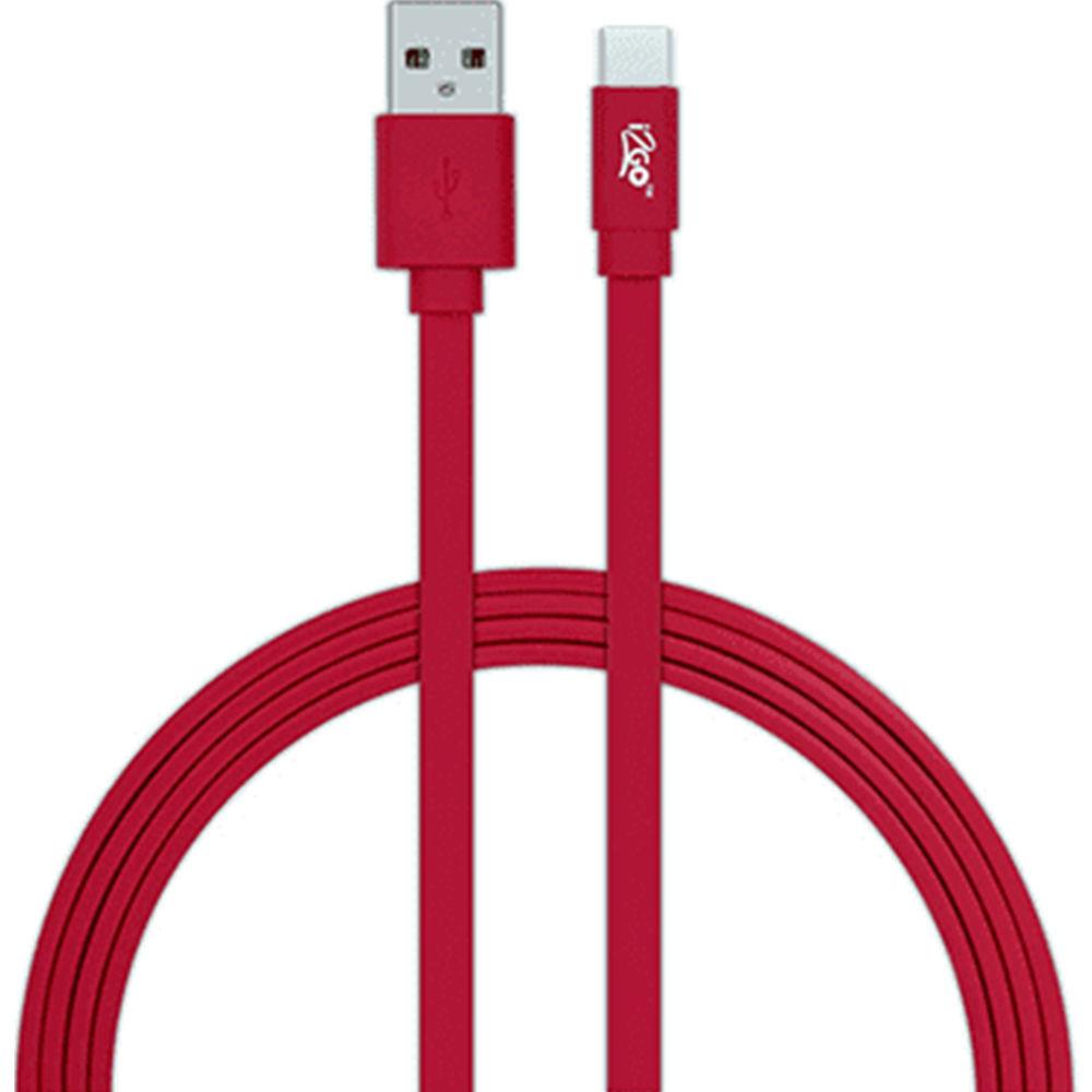 Cabo USB e Tipo C 1,2m Vermelho 1 UN i2GO