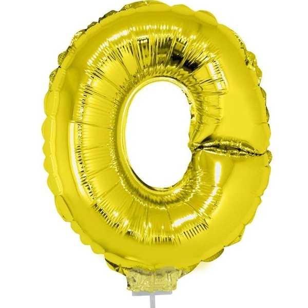 Balão Letra O com Vareta Nº16 Ouro 1 UN Funny Fashion