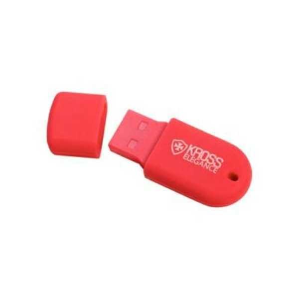 Pen Drive Jelly 32GB USB 2.0 Vermelho KE-PDJ32GBRD 1 UN Kross Elegance