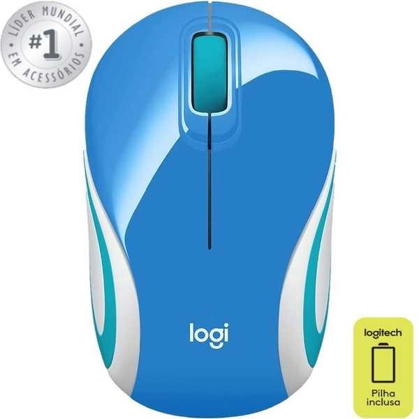 Mini Mouse sem Fio Azul M187 1 UN Logitech