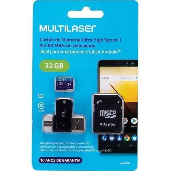 Cartão de Memória Ultra High Speed-I 32GB MC151 1 UN Multilaser