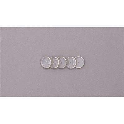 Discos + Elástico para Caderno Inteligente 23mm Prata Kit 1 UN