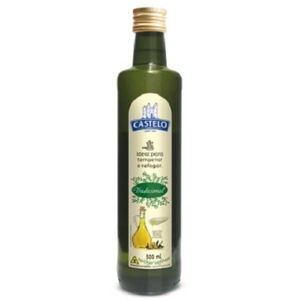 Óleo Misto de Soja e Azeite de Oliva 10% 500ml 1 UN Castelo