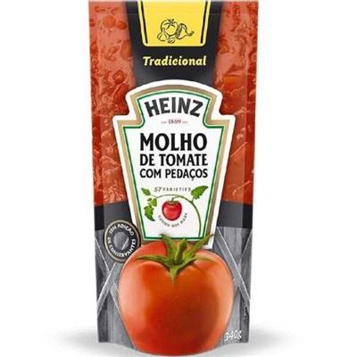 Molho de Tomate Tradicional Sachê 340g 1 UN Heinz