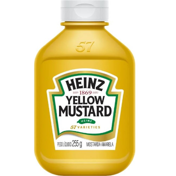 Mostarda Amarela 255g 1 UN Heinz