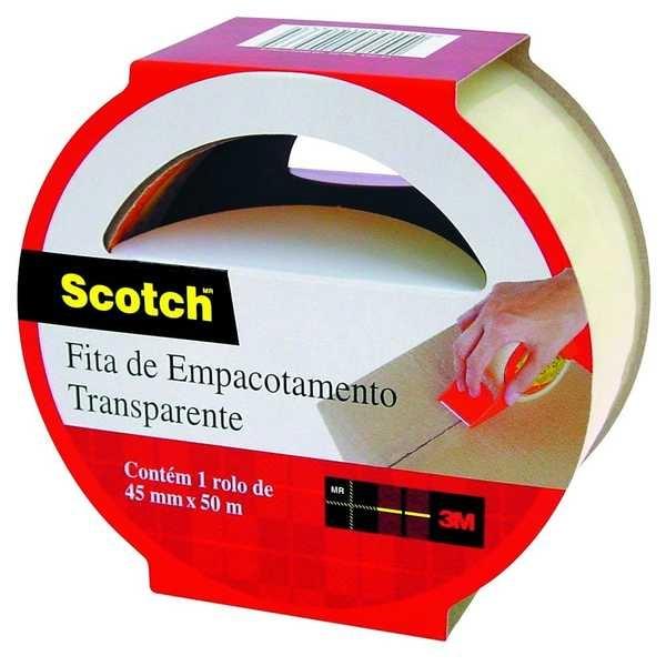 Fita Empacotamento Transparente Scotch 45mm x 50m 1 UN 3M