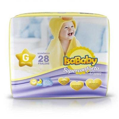 Fralda Premium Jumbinho G PT 28 UN IsaBaby