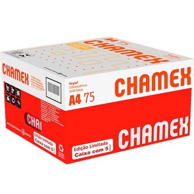 Papel Sulfite A4 Branco 210x297mm 75g CX 2500 FL Edição Limitada com 5 Resmas Chamex