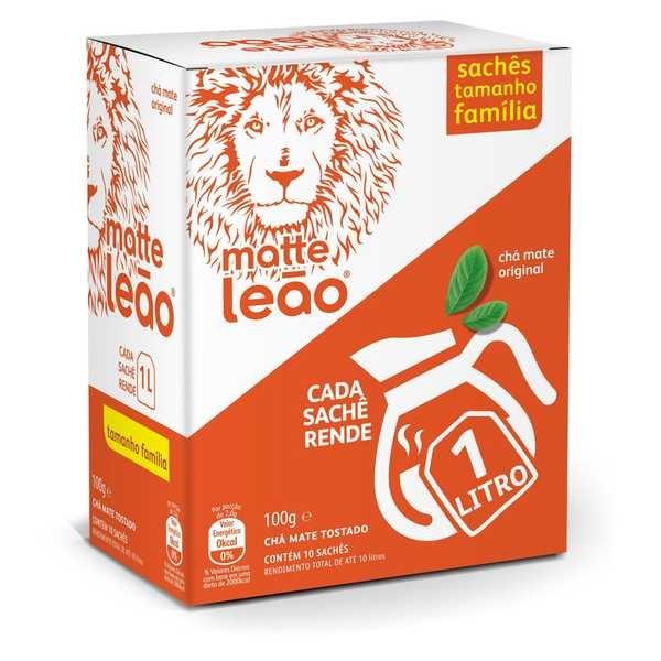 Chá Maxi Matte Natural Sachê 10g CX 10 UN Leão