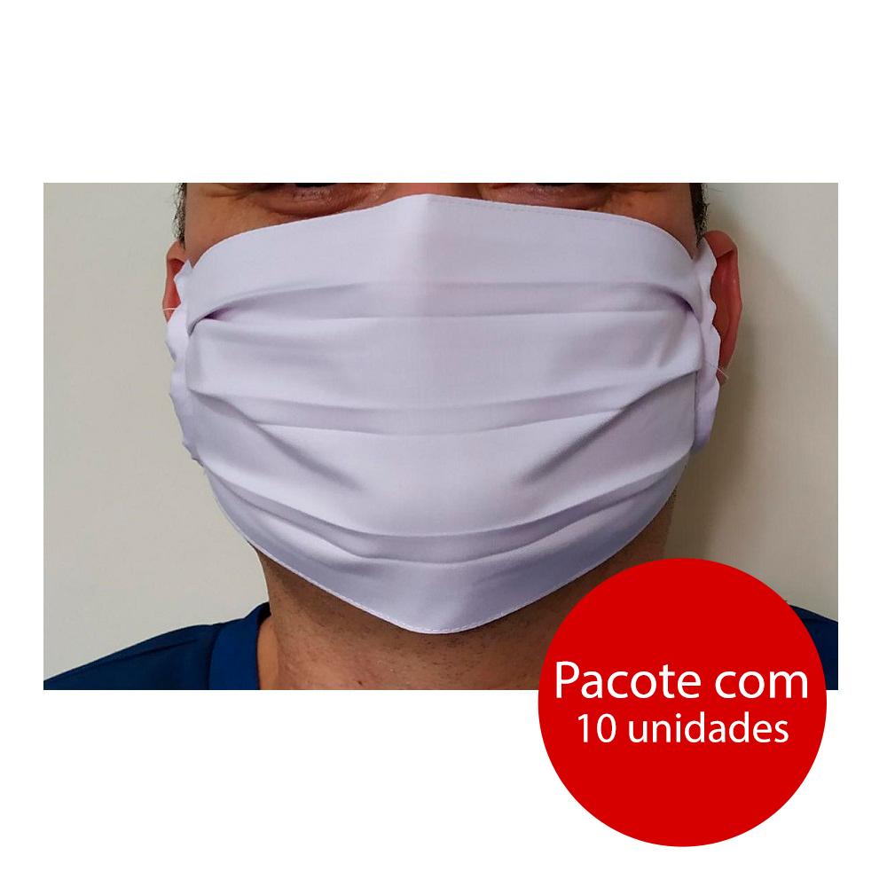 Máscara Facial Dupla Tecido Lavável Tiras Tamanho Único Cores Sortidas PT 10 UN
