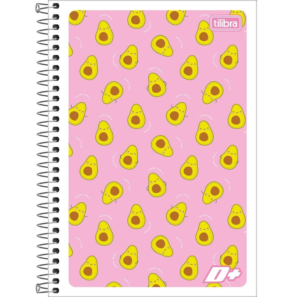 Caderno Espiral Capa Flexível 1/4 96 FL Mais Feminina C 1 UN Tilibra