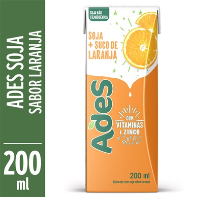 Bebida à Base de Soja Sabor Laranja 200ml Ades