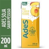 Bebida à Base de Soja  SaborPêssego 200ml Ades