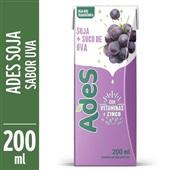Bebida à Base de Soja Sabor Uva 200ml Ades