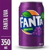 Refrigerante Fanta Uva 350ml Lata