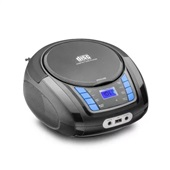 Caixa de Som Boombox com Rádio FM CD Player USB 20W Preto Multilaser