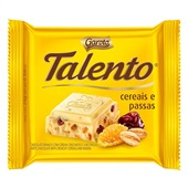 Chocolate Branco Talento Cereais e Passas 25g Garoto