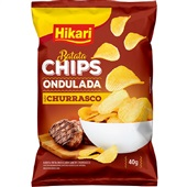 Batata Ondulada Churrasco 40g Hikari