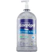 Álcool em Gel Antisséptico para Mãos 70% Aloe Vera 1kg 1 UN Asseptgel