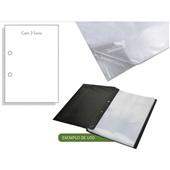 Envelope Plástico Ofício 240x325mm 2 Furos Espessura 0,06 ACP