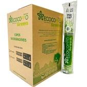 Copo Plástico Biodegradável 300ml Transparente CX 2000 UN Ecocoppo Green