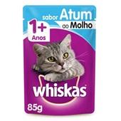 Sachê de Ração Úmida para Gatos Adulto Sabor Atum ao Molho 85g Whiskas
