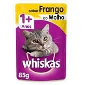 Sachê de Ração Úmida para Gatos Adulto Sabor Frango ao Molho 85g Whiskas