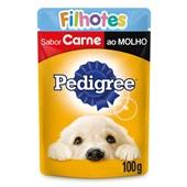 Sachê de Ração Úmida para Cães Filhotes Sabor Carne ao Molho 100g Pedigree