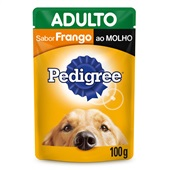 Sachê de Ração Úmida para Cães Adultos Sabor Frango ao Molho 100g Pedigree