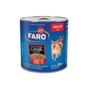Ração Úmida para Cães Adultos Sabor Carne Lata 280g 1 UN Faro