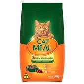 Ração para Gatos Adultos Sabor Carne Peixe e Vegetais 20 Kg Cat Meal