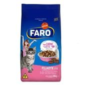 Ração para Gatos Filhotes Sabor Carne e Leite 20 Kg Faro